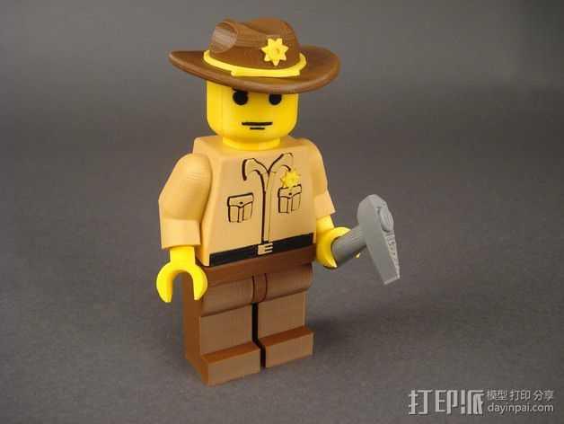 Rick Grimes人物模型 3D打印模型渲染图