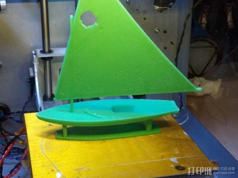 翻车鱼帆船 3D打印模型渲染图