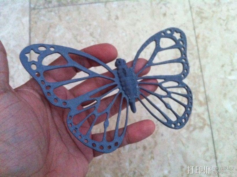 帝王斑蝶 3D打印模型渲染图
