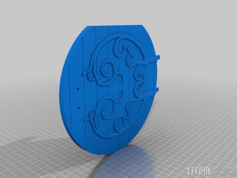 圆木门 3D打印模型渲染图