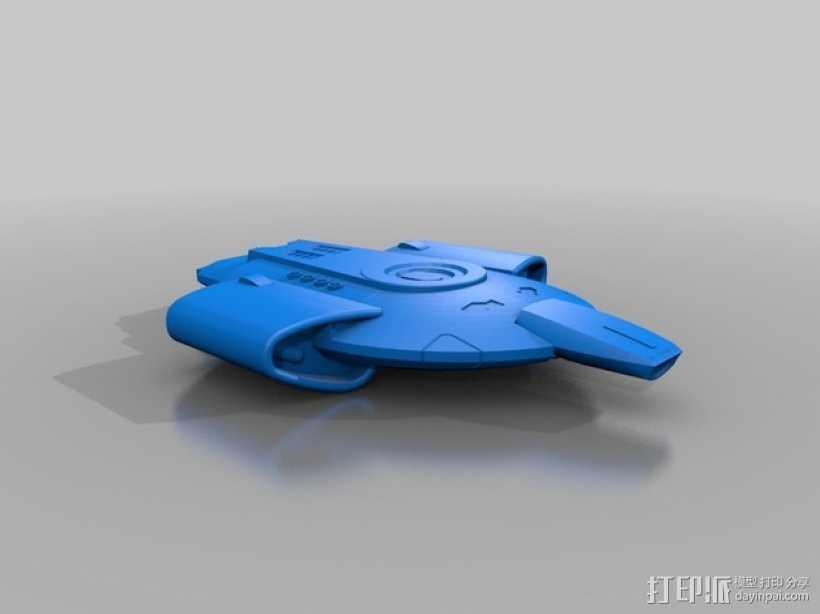 Defiant-Nx-74205勇抗号联邦星舰 3D打印模型渲染图