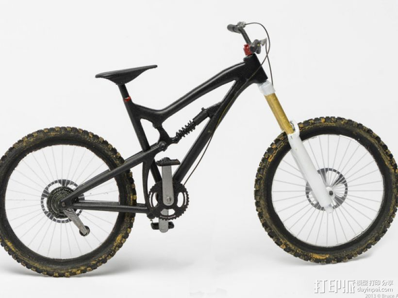 Santa Cruz Nomad自行车 3D打印模型渲染图