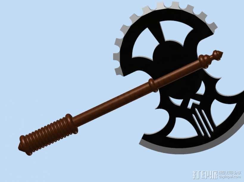 Mid-Evil斧子模型 3D打印模型渲染图