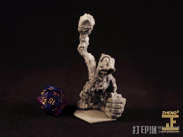 岩石青蛙 3D打印模型渲染图