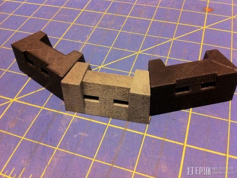 混凝土路障 护栏  3D打印模型渲染图