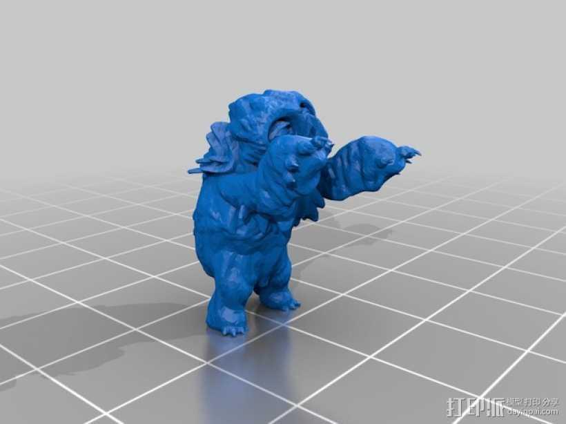 小枭熊 3D打印模型渲染图