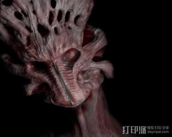 Demon头部模型 3D打印模型渲染图