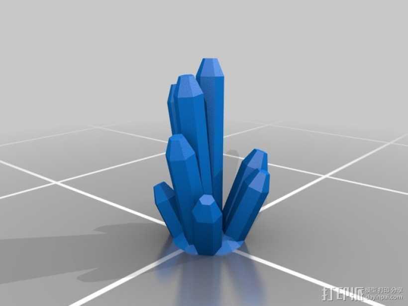 水晶  3D打印模型渲染图