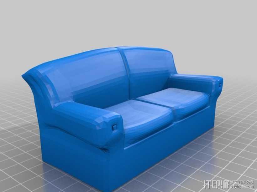 沙发 3D打印模型渲染图