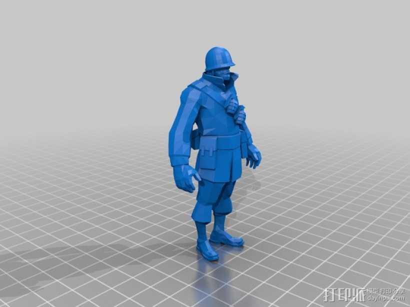 军团要塞士兵模型 3D打印模型渲染图