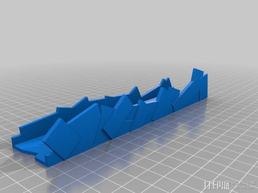 废墟 游戏造型 3D打印模型渲染图