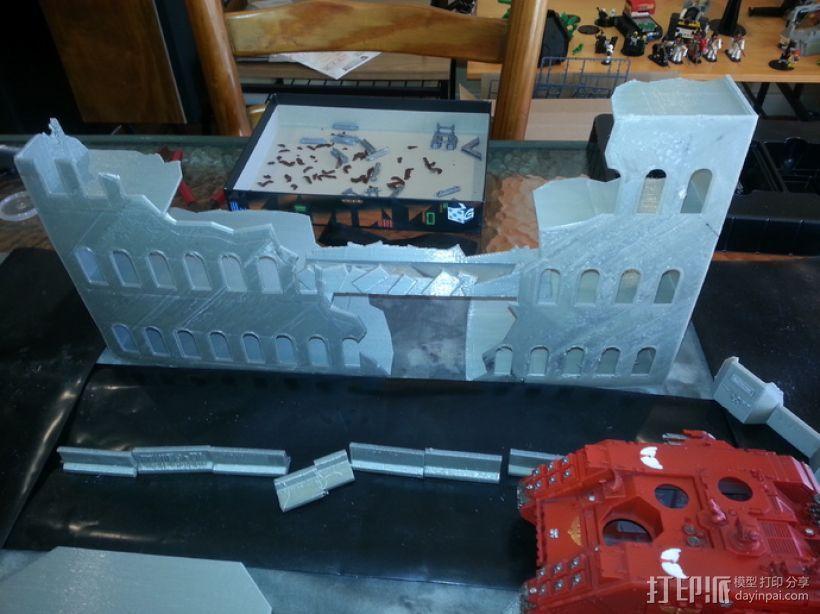 废墟建筑模型 3D打印模型渲染图