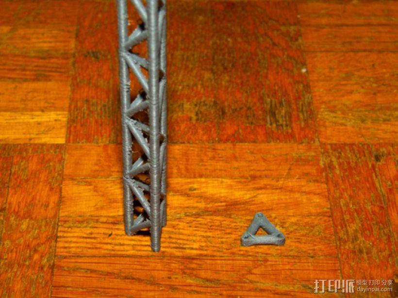 桥桁架 3D打印模型渲染图