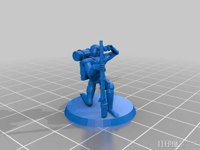 猎人模型 3D打印模型渲染图