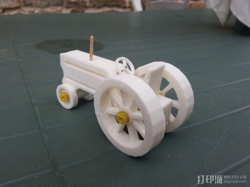 拖拉机 3D打印模型渲染图