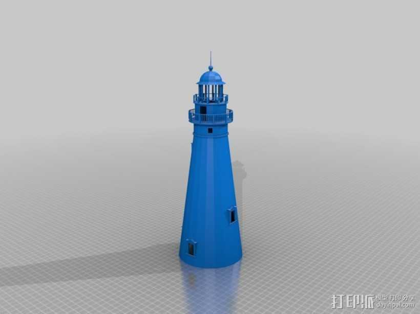 灯塔  3D打印模型渲染图