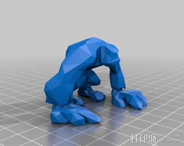 金刚 3D打印模型渲染图