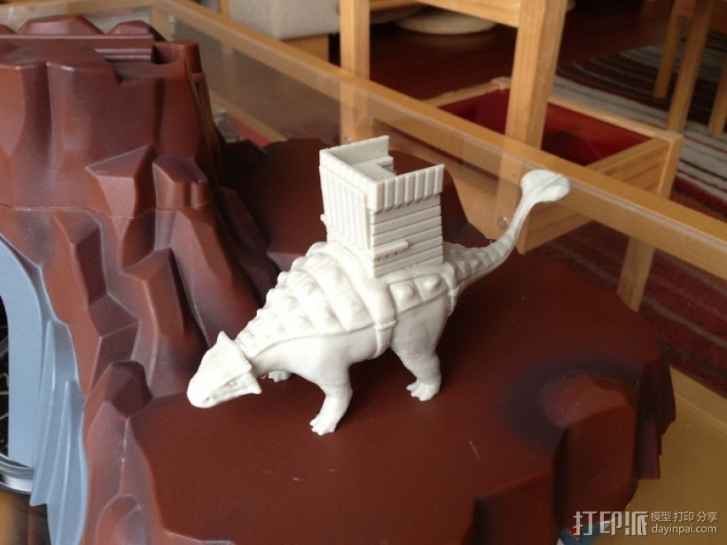 甲龙 恐龙 3D打印模型渲染图