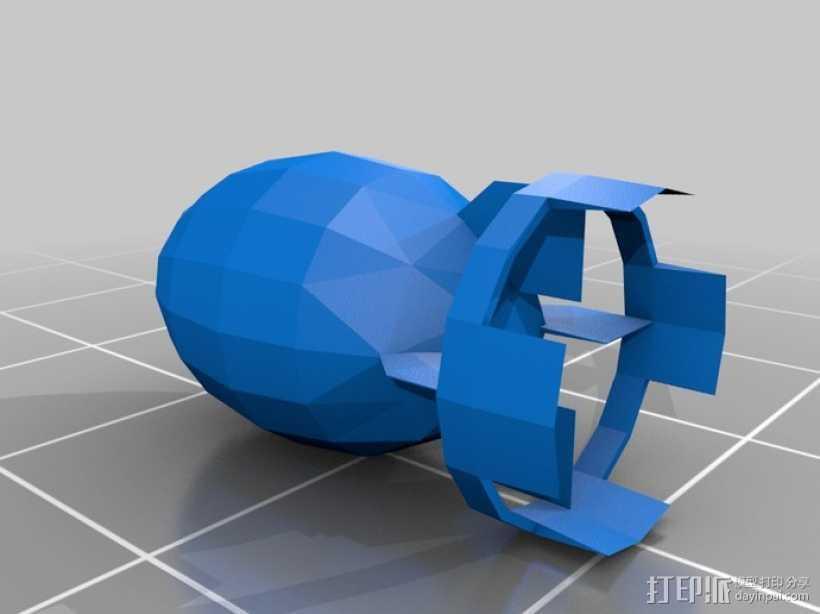 新维加斯炸弹 3D打印模型渲染图