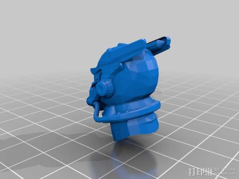 英雷克动力头盔 3D打印模型渲染图