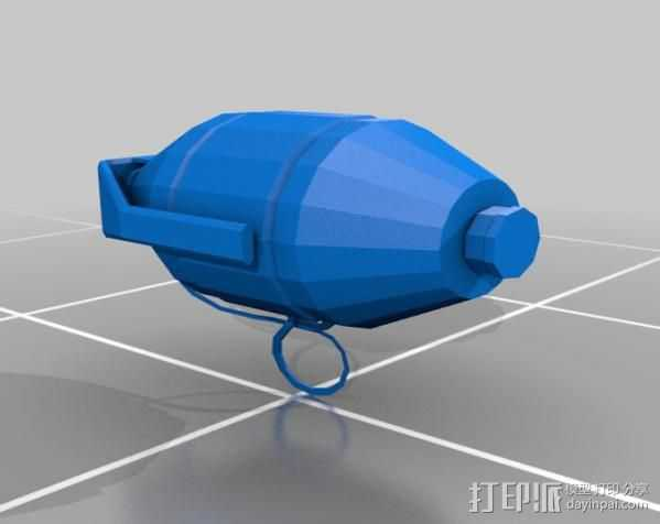新维加斯手榴弹 3D打印模型渲染图