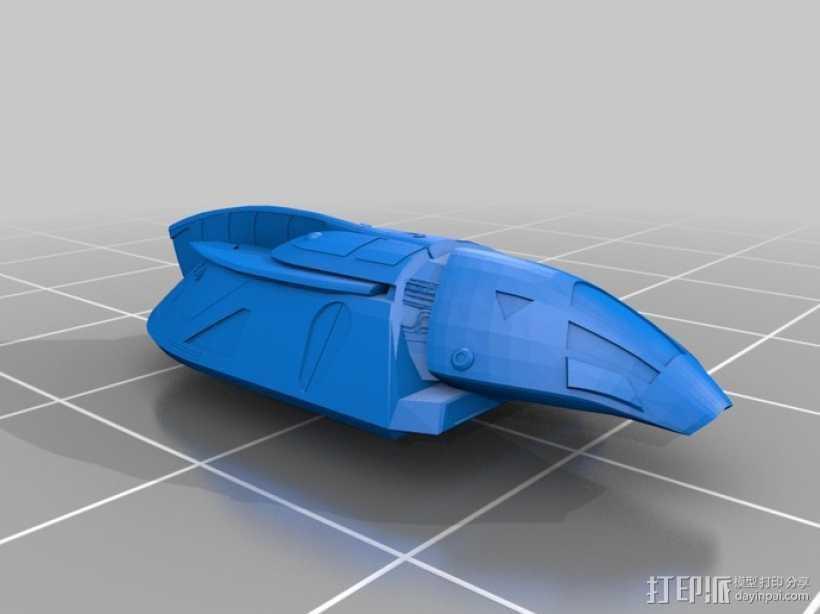 飞萤航空飞机 3D打印模型渲染图