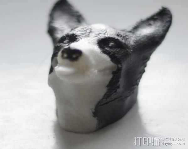 吐舌的狗 3D打印模型渲染图