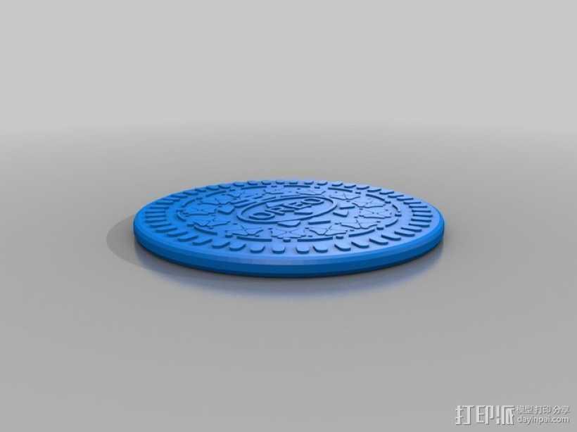 奥利奥饼干 3D打印模型渲染图