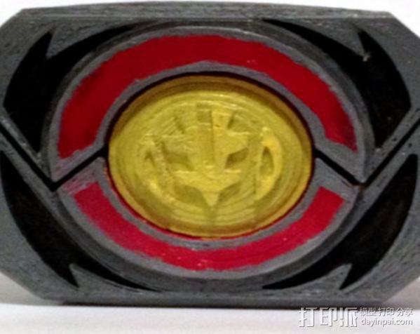 超级战队徽章标志 3D打印模型渲染图