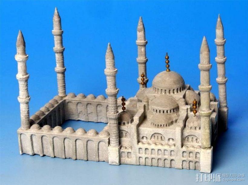 苏丹默哈默德清真寺 3D打印模型渲染图