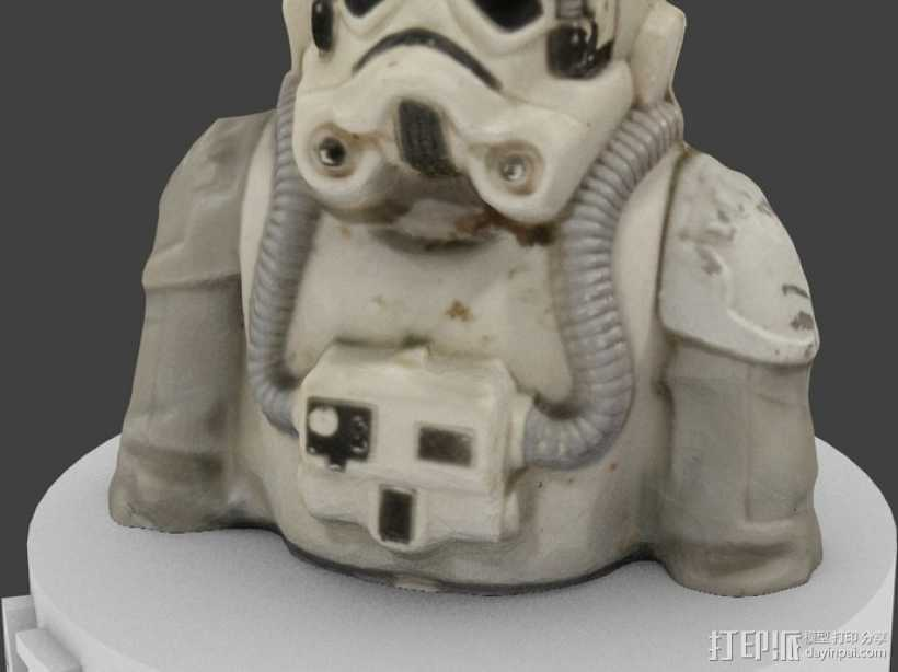 AT-AT帝国驾驶员半身像 3D打印模型渲染图