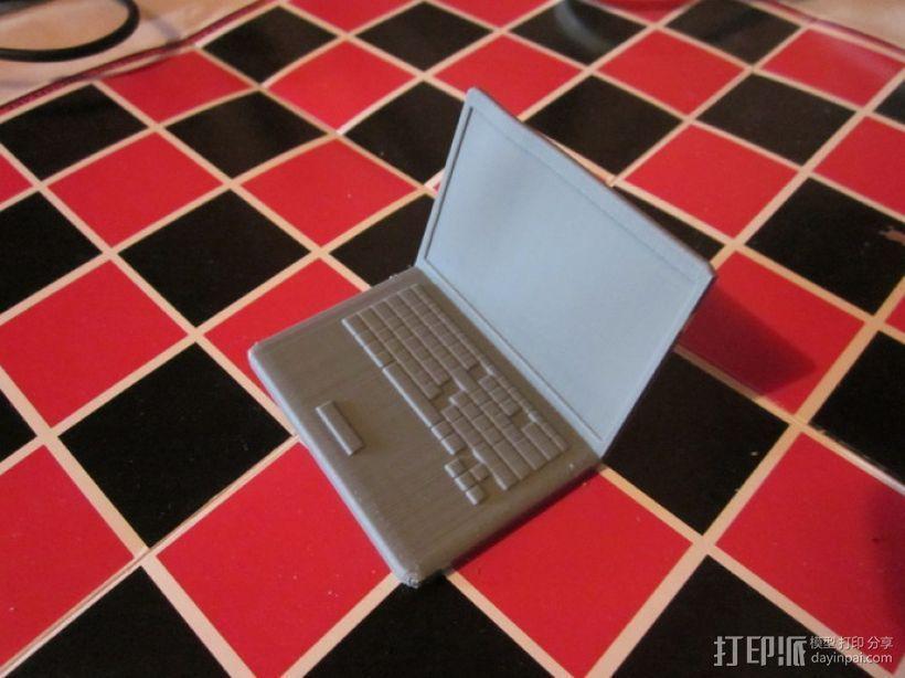 笔记本电脑模型 3D打印模型渲染图