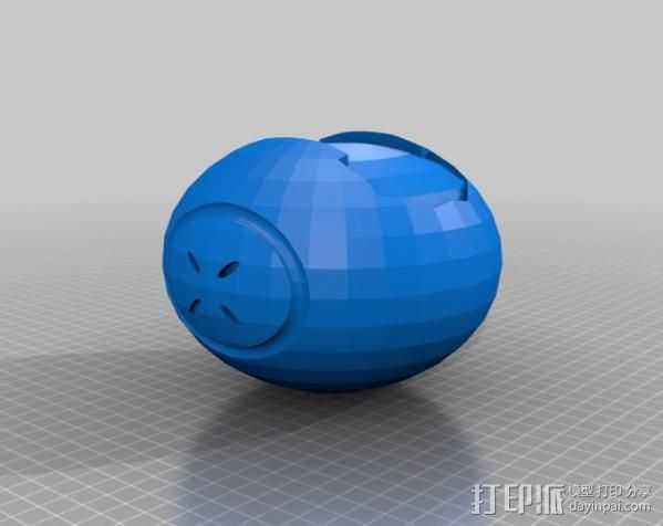 光晕4 破片手雷 3D打印模型渲染图