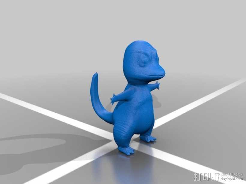 小火龙 3D打印模型渲染图