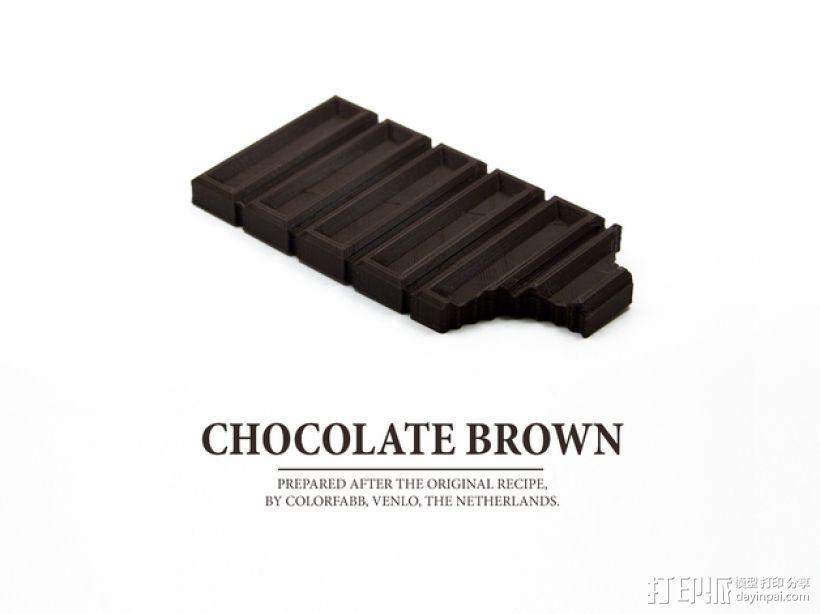 巧克力  3D打印模型渲染图