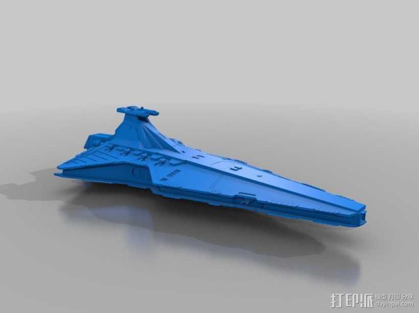 猎兵级歼星舰 3D打印模型渲染图