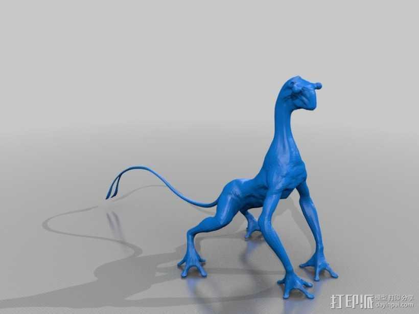 外星人 3D打印模型渲染图