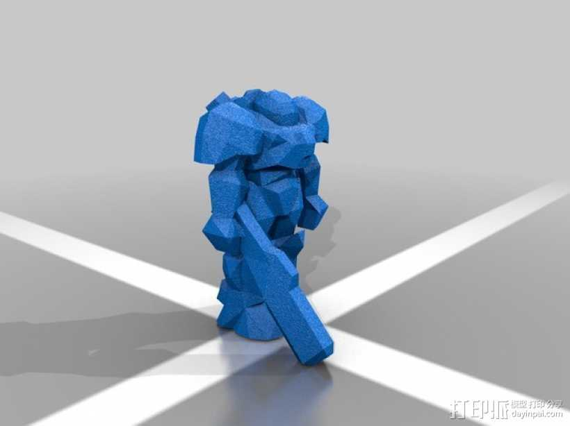 舰长吉姆·雷诺Jim Raynor 3D打印模型渲染图