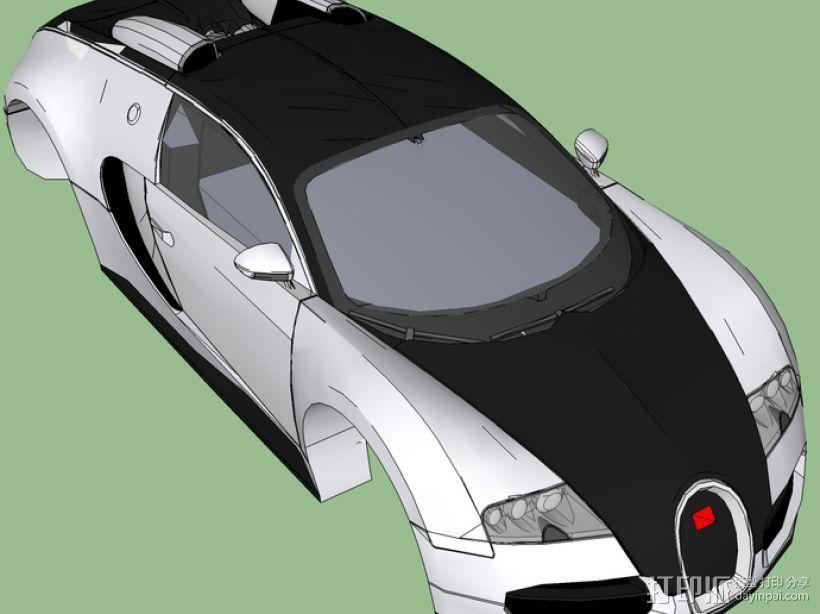 布加迪威龙跑车 3D打印模型渲染图