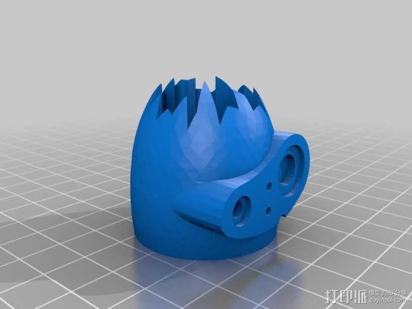 天空之城 机器人头部 3D打印模型渲染图