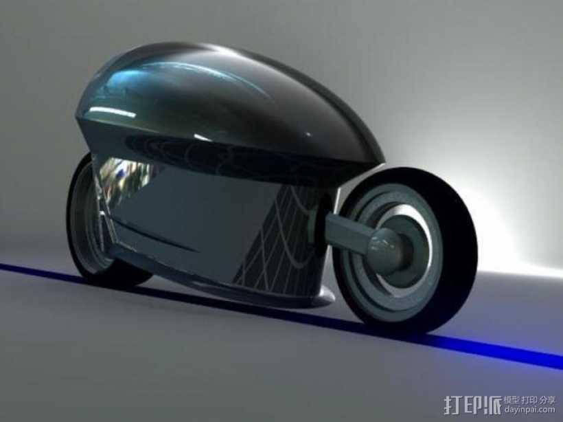智能摩托 3D打印模型渲染图