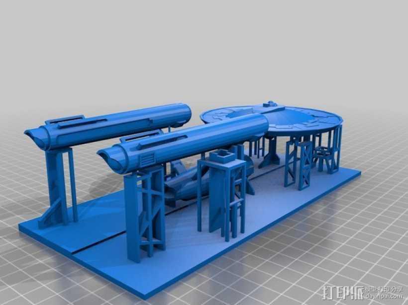 进取号星舰 3D打印模型渲染图