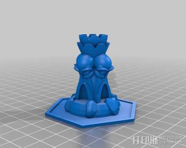 魔法塔 3D打印模型渲染图