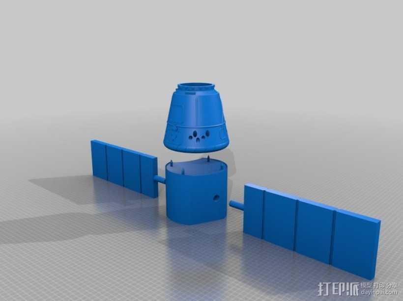 太空运输飞船 3D打印模型渲染图