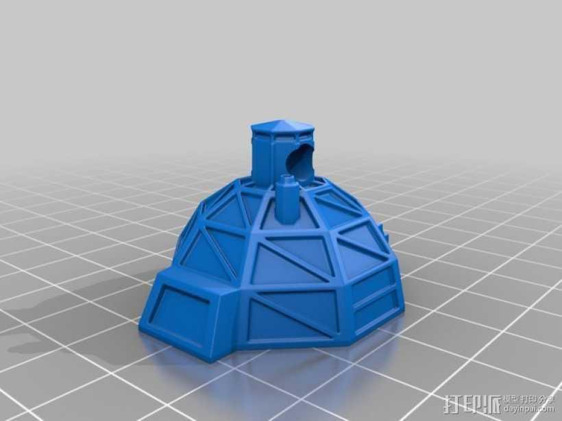 冰屋 3D打印模型渲染图