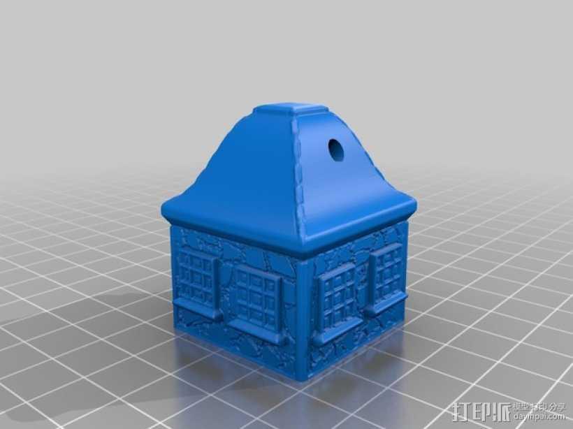 小平房 3D打印模型渲染图
