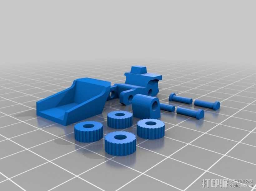 微型清洁车 3D打印模型渲染图