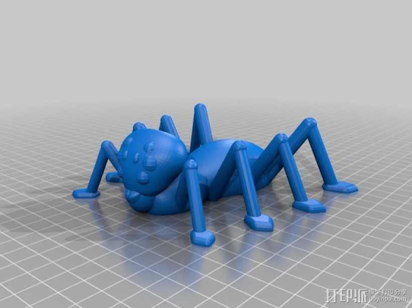 万圣节蜘蛛 3D打印模型渲染图