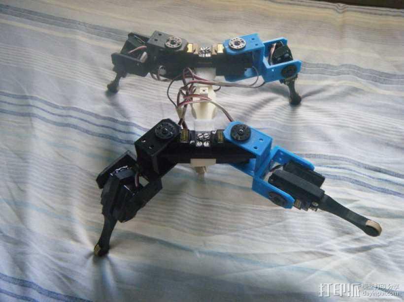 AT-AS四足机器人 3D打印模型渲染图