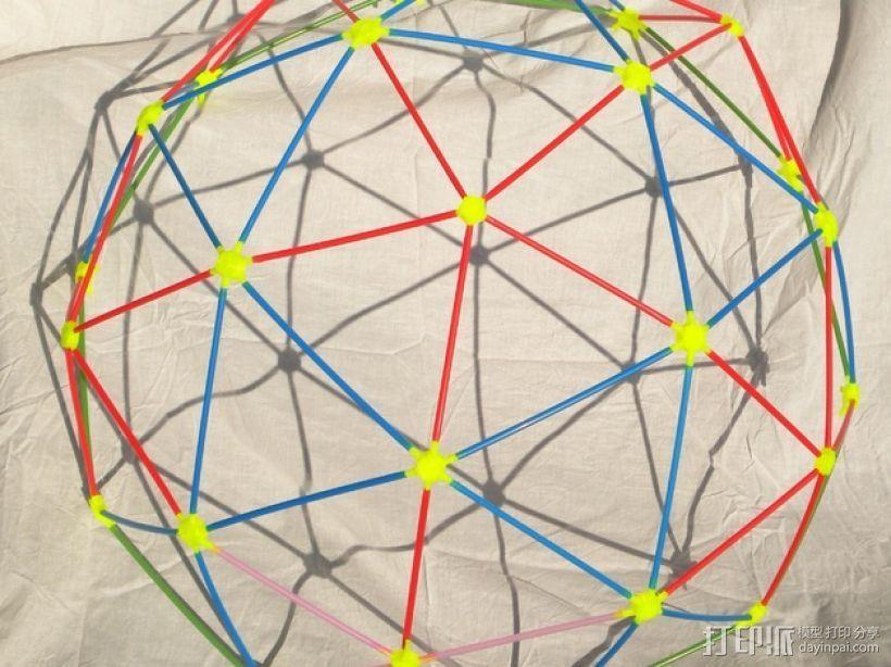 二十面体 迷你圆屋顶 3D打印模型渲染图